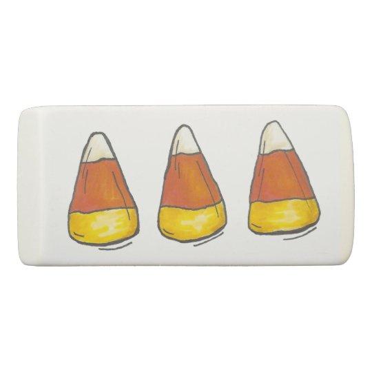 Goma De Borrar Pastillas de caramelo Candycorn de Halloween del