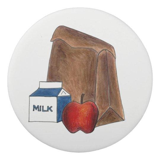 Goma De Borrar Profesor de Apple del cartón de la leche del