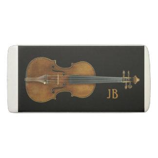 Goma De Borrar Violín por Stradivari con iniciales de encargo