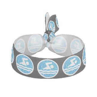 Gomilla Para El Pelo Hairtie del nadador del icono del nadador y de la