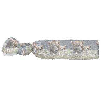 Gomilla Para El Pelo Lazo del pelo con el oso grizzly y el cachorro