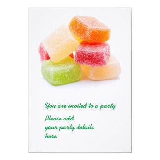 Gominolas de sabores y colores invitación 12,7 x 17,8 cm