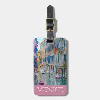 Góndola de Venecia Italia de la acuarela Etiqueta Para Maletas