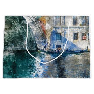Góndola en el Gran Canal de Venecia Italia Bolsa De Regalo Grande
