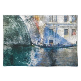 Góndola en el Gran Canal de Venecia Italia Salvamanteles