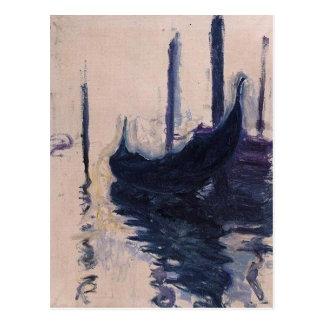 Góndola en Venecia de Claude Monet Postal