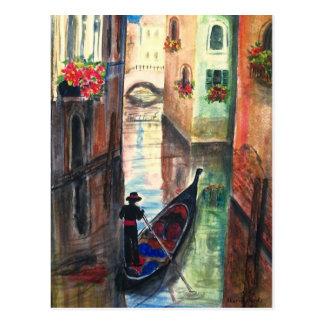 Góndola en Venecia Italia Postal