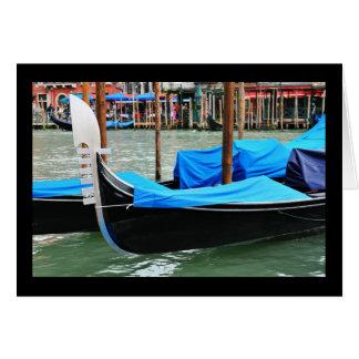 Góndola en Venecia, Italia Tarjeta