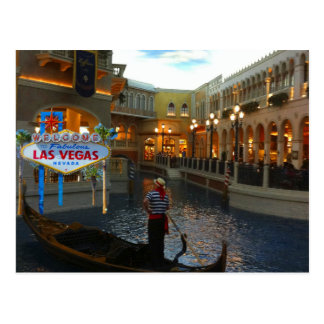 Góndola veneciana de Las Vegas Postal