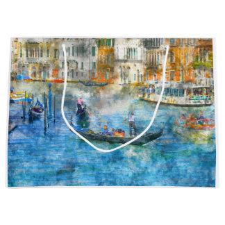 Góndolas en el Gran Canal de Venecia Italia Bolsa De Regalo Grande