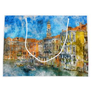 Góndolas en el Gran Canal en Italia Bolsa De Regalo Grande
