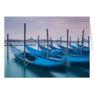 Góndolas en Venecia Tarjeton