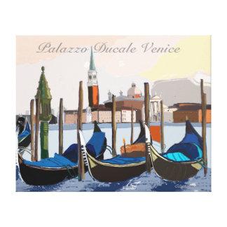 Góndolas venecianas en Palazzo Ducale Venecia Lienzo