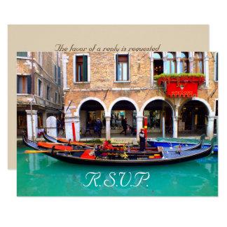 Góndolas venecianas - tarjetas de RSVP