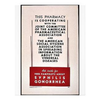 Gonorrea de la sífilis folleto 21,6 x 28 cm
