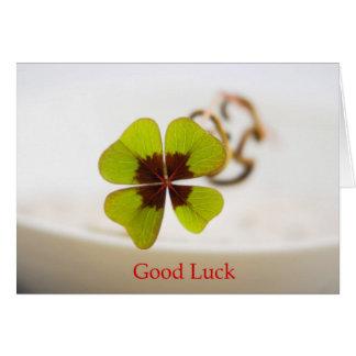 good luck tarjeta de felicitación