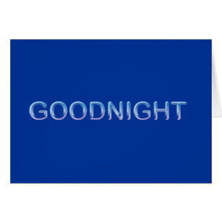 GOODNIGHT8 BUENAS NOCHES BUENAS NOCHES azules COMM Tarjetón