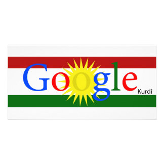 Google kurdo por Sarezh Abdullahi Tarjeta Fotográfica Personalizada