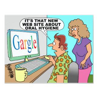 Google parodia el dibujo animado invitaciones personales