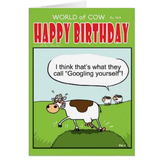 Googling usted mismo tarjeta de felicitación