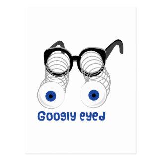 Googly observada tarjeta postal
