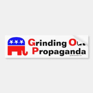 GOP: Pulido hacia fuera de propaganda Pegatina Para Coche