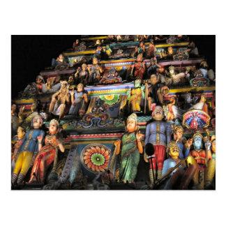 Gopuram por noche postal