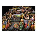Gopuram por noche postales