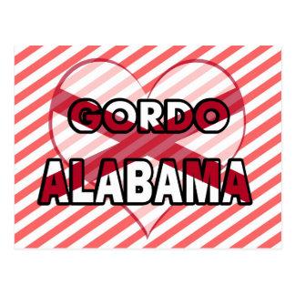 Gordo Alabama Tarjeta Postal
