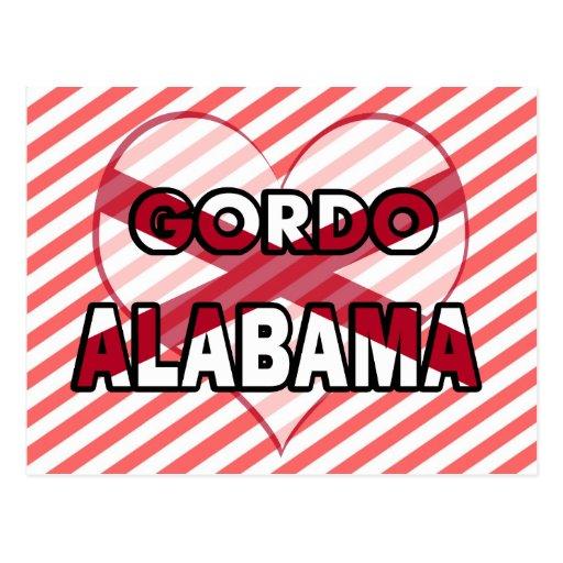 Gordo, Alabama Tarjeta Postal