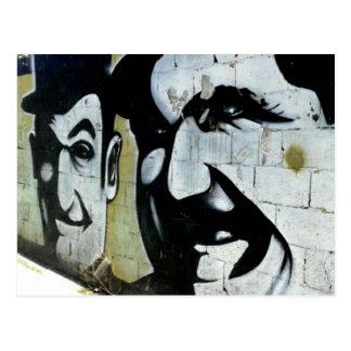 Gordo & Doof - grafiti en España tarjeta postal -