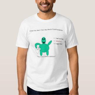 Gordo el plan del 3-Step del extranjero para la Camiseta