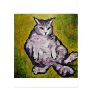 gordo-gato tarjeta postal
