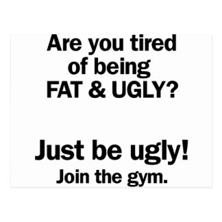 Gordo y feo postal