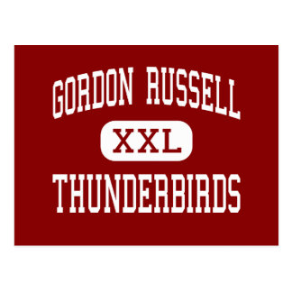 Gordon Russell - Thunderbirds - centro - Gresham Postal