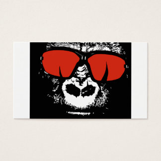 Gorila con los vidrios tarjeta de visita