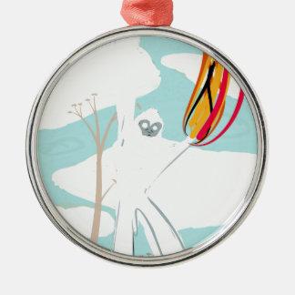 Gorila de Papel Toalé y Fuego por Kelvin Huggins. Ornamento Para Arbol De Navidad