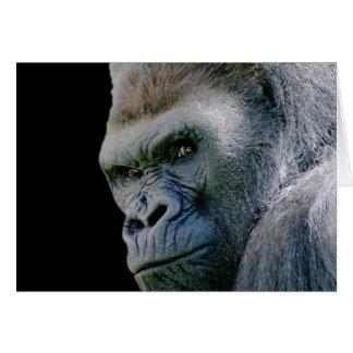 Gorila enojado felicitación
