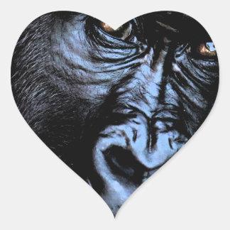 Gorila Pegatina En Forma De Corazón