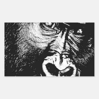 Gorila Pegatina Rectangular