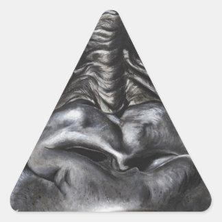 Gorila Pegatina Triangular