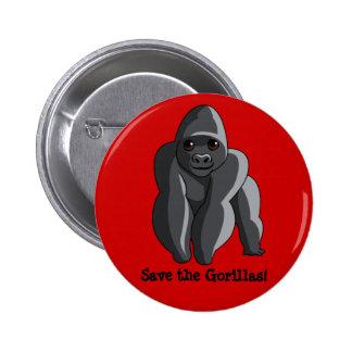 Gorilas Chapa Redonda De 5 Cm
