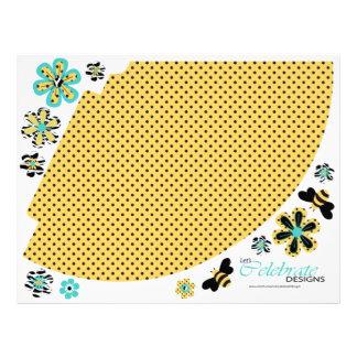 Gorra 2 del fiesta de la abeja del cumpleaños flyer personalizado
