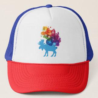 Gorra abstracto del camionero de los alces