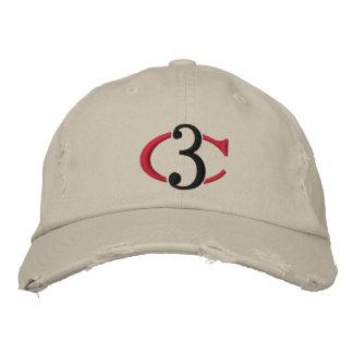Gorra ajustable apenado logotipo del tipo de tela