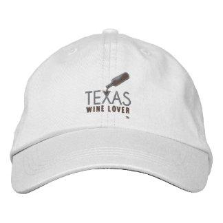 Gorra ajustable del amante del vino de Tejas