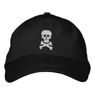 Gorra ajustable del cráneo de la roca gorra bordada