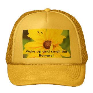Gorra amarillo de la margarita