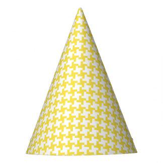 Gorra amarillo del fiesta de Houndstooth del