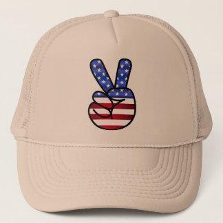 gorra América firma V como victoria